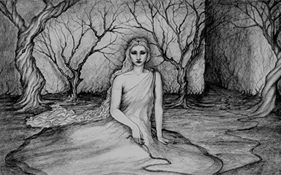 Ariadne at the labyrinth, by Edward Cameron