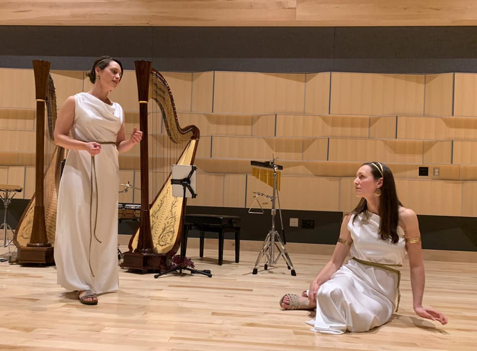 Atlantic Harp Duo performs at Interlochen Center for the Arts