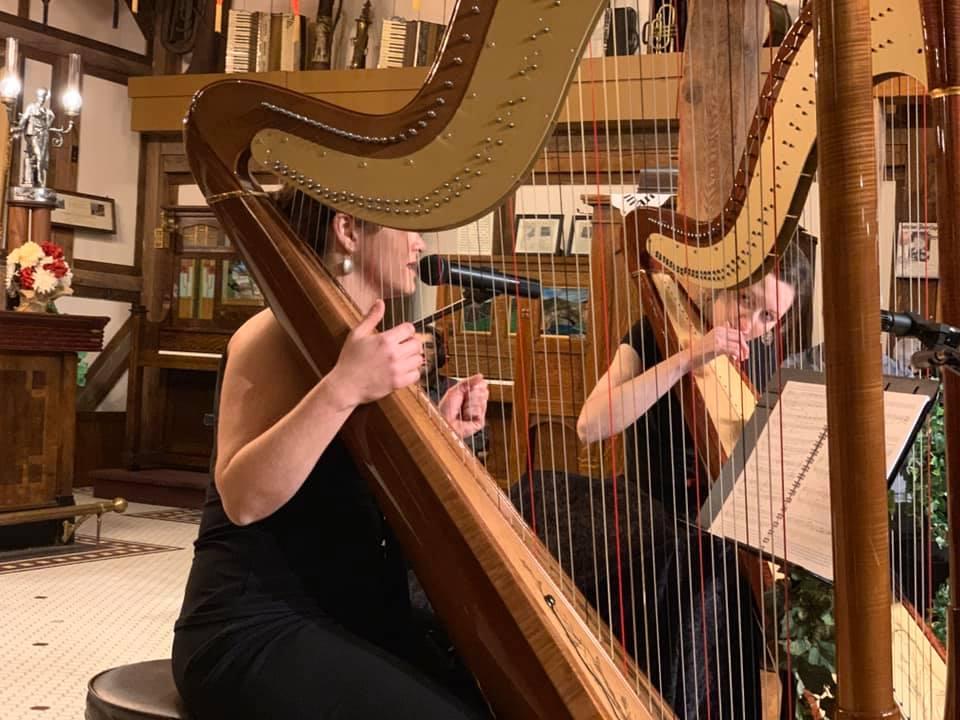 Atlantic Harp Duo at the Music House Museum
